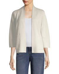 Eileen Fisher - Patch Pocket Cardigan - Lyst