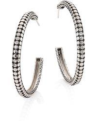 John Hardy - Dot Medium Sterling Silver Hoop Earrings/1.5 - Lyst