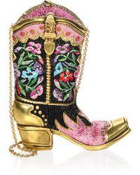 Judith Leiber - Cowboy Boot Shoulder Bag - Lyst
