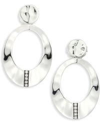 Ippolita - Sensotm Diamond & Sterling Silver Wavy Oval Earrings - Lyst
