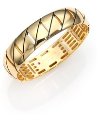 Roberto Coin | Appassionata 18k Yellow Gold Bangle Bracelet | Lyst