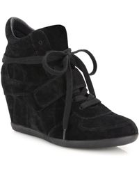 Ash - Bowie Suede High-top Wedge Sneakers - Lyst