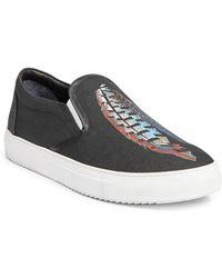 Marcelo Burlon - Genek Feather Lauren Print Slip-on Sneakers - Lyst