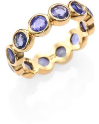Temple St. Clair - Classic Color Sapphire & 18k Yellow Gold Eternity Band Ring - Lyst