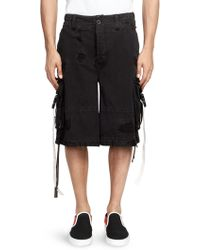 Palm Angels - Cotton Cargo Shorts - Lyst