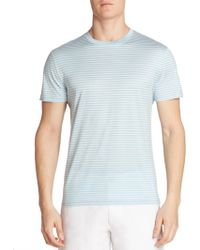 Saks Fifth Avenue - Striped Short Sleeve Tee - Lyst