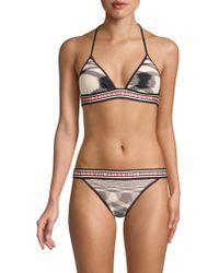 d4077b8081eb5 ... (black pink) Women s Swimwear Sets - Lyst · Missoni - Maglieria Fiammata  Triangle Logo Two-piece Bikini Set - Lyst