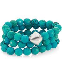 Nest - Turquoise Beaded Stretch Bracelet Set - Lyst