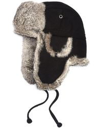 a291e77873f Saks Fifth Avenue - Collection Rabbit-fur Aviator Hat - Lyst