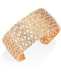 Adriana Orsini - Anise Rose Gold-plated Wide Cuff Bracelet - Lyst