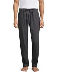 Hanro - Woven Flannel Drawstring Sweatpants - Lyst