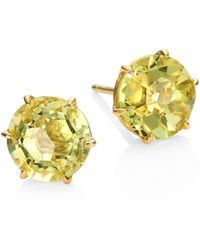 Ippolita - Rock Candy Green-gold Citrine & 18k Yellow Gold Stud Earrings - Lyst
