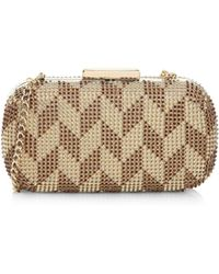 Whiting & Davis - Two-tone Chain Clutch - Lyst