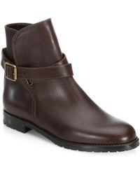 Manolo Blahnik - Sulgamba Leather Ankle Boots - Lyst