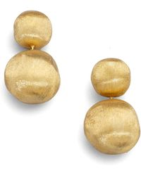 Marco Bicego - Africa 18k Yellow Gold Ball Drop Earrings - Lyst