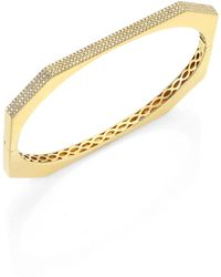 Ron Hami - Diamond & 18k Yellow Gold Bangle Bracelet - Lyst