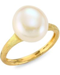Marco Bicego - Africa 18k Yellow Gold & 11mm-12mm Round Freshwater Pearl Cocktail Ring - Lyst