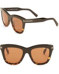 10b178291e03 Lyst - Tom Ford Sandra 62mm Crossover Square Sunglasses in Brown