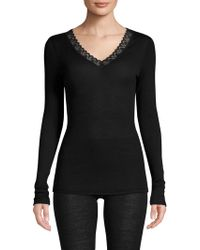 Hanro - Woolen Lace Wool And Silk Long-sleeve Shirt - Lyst