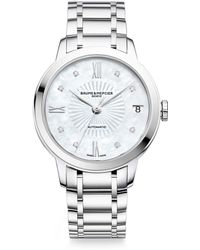 Baume & Mercier - Classima Diamond, Mother-of-pearl & Stainless Steel Bracelet Watch - Lyst