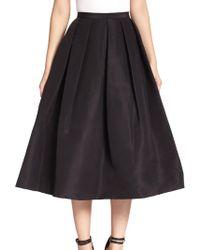 Tibi - Silk Faille Pleated A-line Skirt - Lyst