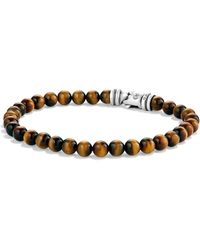 David Yurman - Spiritual Bead Tiger's Eye Bracelet - Lyst