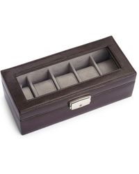 Royce - Spanish Leather Five Slot Watch Box - Lyst