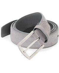 Kiton - Five-notch Suede Belt - Lyst