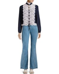 See By Chloé - Cropped Flared Jeans - Lyst