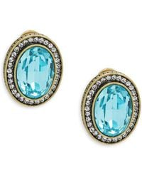 Heidi Daus - Oval Crystal Earrings - Lyst