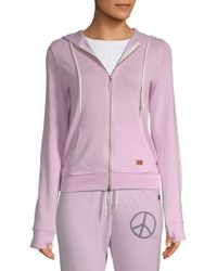 Peace Love World - Graphic Hooded Jacket - Lyst