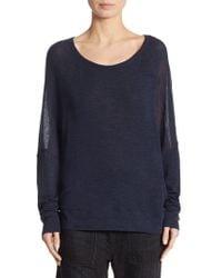Vince - Drop Shoulder Wool Sweater - Lyst