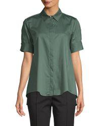 Adam Lippes - Short-sleeve Cotton Button-down Shirt - Lyst