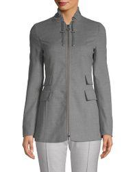 Akris Long-sleeve Wool Jacket