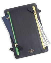 Royce - Rfid Blocking Four-zip Leather Travel Case - Lyst