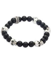 King Baby Studio - Onyx Skull Bracelet - Lyst