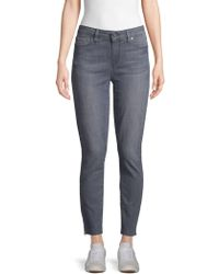 PAIGE - Frayed-cuff Ankle Jeans - Lyst