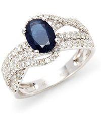 Effy - Sapphire & Diamond Multi-band Twist Ring - Lyst