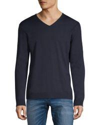 Strellson cuello con de en lana Milton v jersey Lyst K rqHwrPS