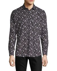 Jared Lang - Paisley-print Cotton Button-down Shirt - Lyst