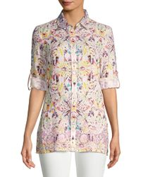 Robert Graham - Leilani Printed Linen Button-down Shirt - Lyst