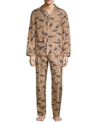 Valentino - Two-piece Wing-print Silk Pajama Set - Lyst