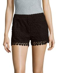 Saks Fifth Avenue - Floral Patterned Scalloped Shorts - Lyst
