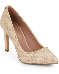 Elliott Lucca - Woven Leather Point Toe Pumps - Lyst