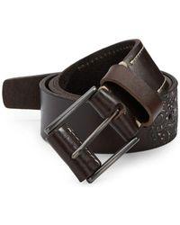 Robert Graham - Penniman Embossed Leather Belt - Lyst