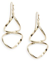 Nine West - Abstract Goldtone Drop Earrings - Lyst