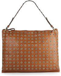 Sondra Roberts - Studded Faux Leather Hobo - Lyst