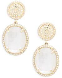 Phillips House - 14k Yellow Gold & Diamond Drop Earrings - Lyst