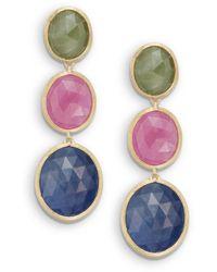 Marco Bicego - Multicolour Sapphire & 18k Yellow Gold Drop Earrings - Lyst