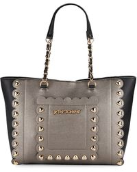 Betsey Johnson - Wavy Days Metallic Two-tone Tote - Lyst